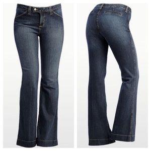 NYDJ Angie Trouser Flare Leg Denim Jeans 6